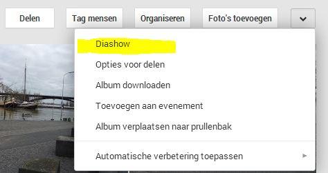 Google plus diashow