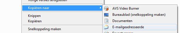 Kopieren naar e-mail geadresseerde