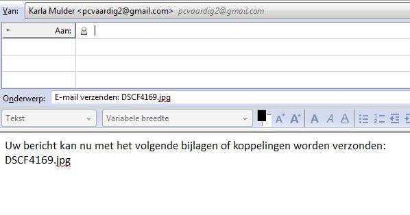 email versturen met bijlage