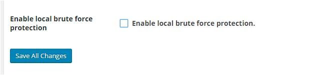 enable local brute force protection