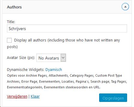 *Author widget